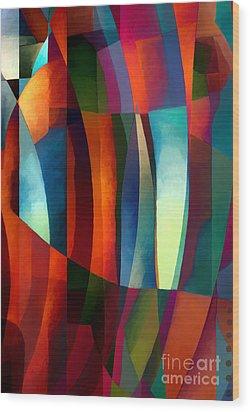 Abstract #1 Wood Print by Elena Nosyreva