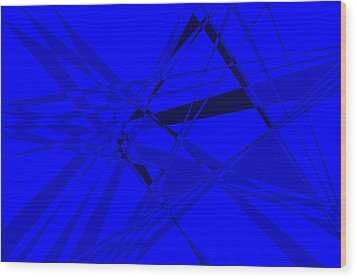 Abstract 156 Wood Print by J D Owen
