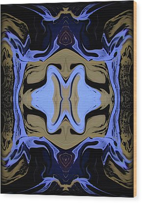 Abstract 161 Wood Print by J D Owen