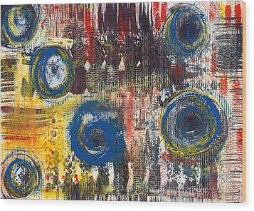 Abstract 2 Wood Print by Angela Bruno