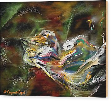 Abstract 2 Wood Print by Francoise Dugourd-Caput