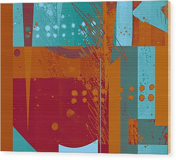 Abstract 203 Wood Print by Ann Powell