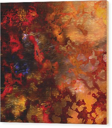Abstract 21214a Wood Print by Daniel Mowry