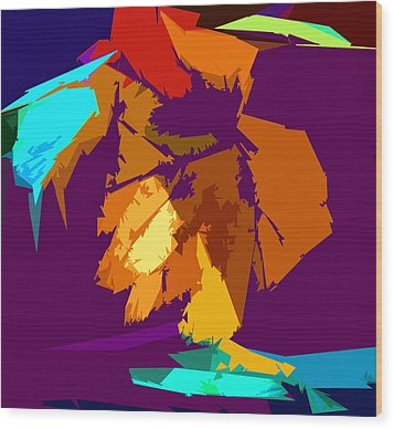 Abstract 3-2013 Wood Print by John Lautermilch