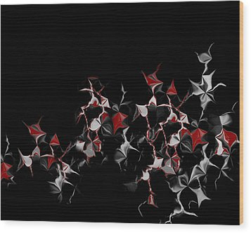 Wood Print featuring the digital art Abstract 3 by Shabnam Nassir