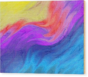 Abstract 37 Wood Print by Kenny Francis