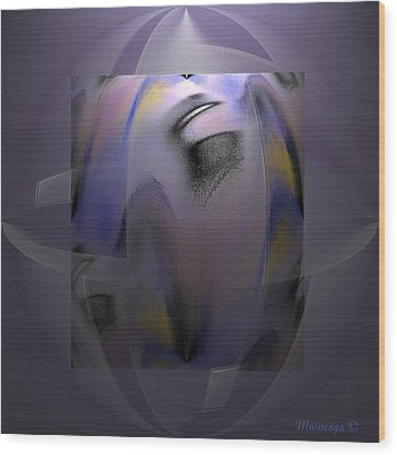 Abstract-55 Wood Print