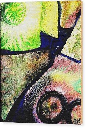 Abstract  57 Wood Print by John  Nolan