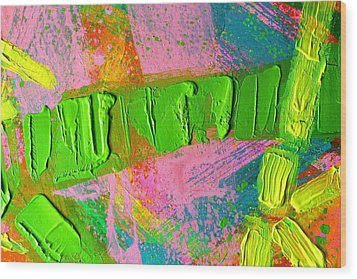 abstract 6814 Diptych Cropped XIV Wood Print by John  Nolan