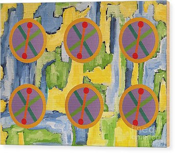 Abstract 82 Wood Print by Patrick J Murphy
