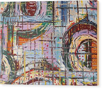 Abstract 9 Wood Print by Patrick J Murphy