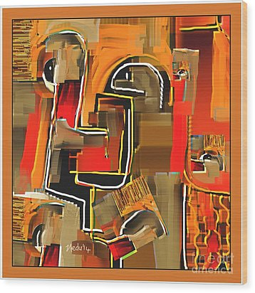 Abstract 973 Wood Print by Nedunseralathan R