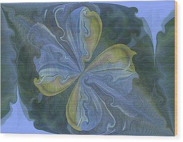Abstract A023 Wood Print by Maria Urso