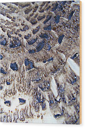 Abstract Accidental Sapphires Wood Print by Linsey Williams