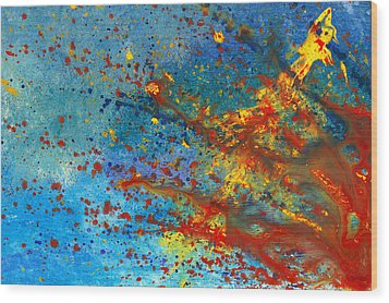 Abstract - Acrylic - Just Another Monday Wood Print by Mike Savad
