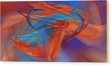 Abstract - Airey Wood Print by rd Erickson