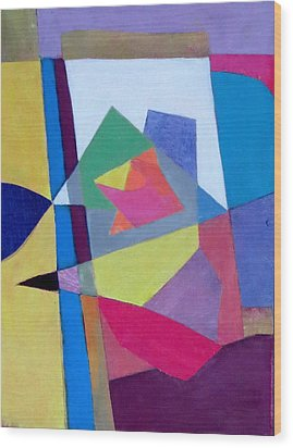 Abstract Angles II Wood Print by Diane Fine