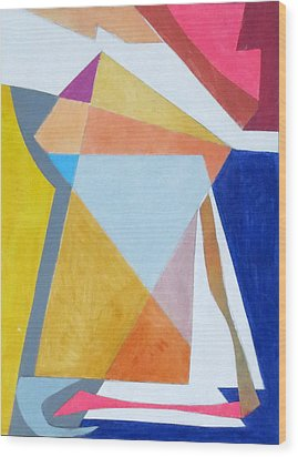 Abstract Angles IIi Wood Print by Diane Fine