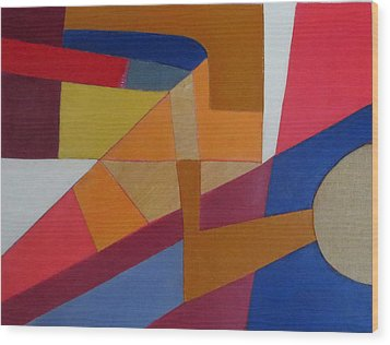 Abstract Angles Viii Wood Print by Diane Fine