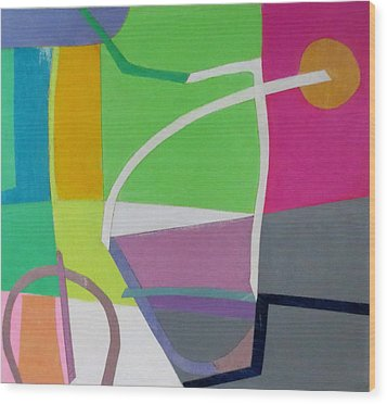 Abstract Angles X Wood Print by Diane Fine