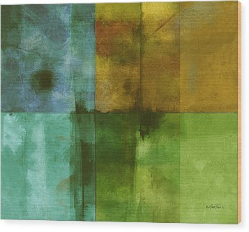 abstract - art- Color Block Rectangle  Wood Print by Ann Powell
