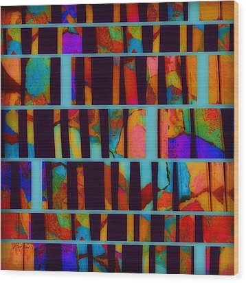 abstract - art- Color Pop  Wood Print by Ann Powell