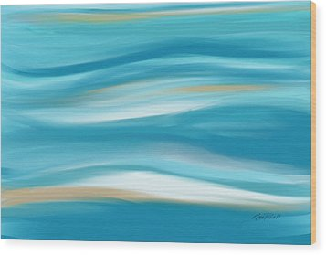 abstract - art-  Contemplation  Wood Print by Ann Powell