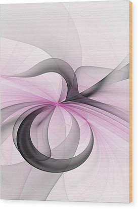 Abstract Art Fractal With Pink Wood Print by Gabiw Art