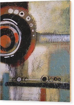 Abstract Art Print ... The World Goes Round 2 Wood Print by Amy Giacomelli