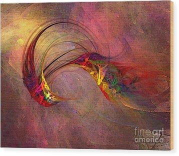 Abstract Art Print Hummingbird Wood Print