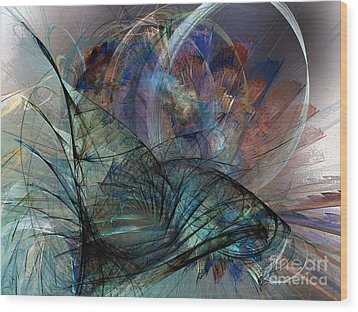 Abstract Art Print In The Mood Wood Print by Karin Kuhlmann