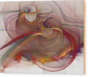 Abstract Art Print Inflammable Matter Wood Print