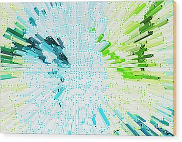 Abstract - Be Happy Wood Print by Natalie Kinnear