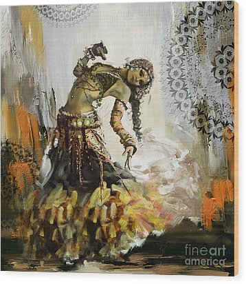 Abstract Belly Dancer 10 Wood Print