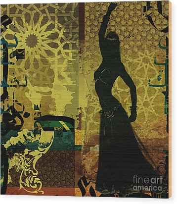 Abstract Belly Dancer 11 Wood Print