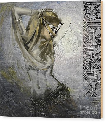 Abstract Belly Dancer 12 Wood Print