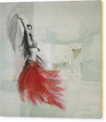 Abstract Belly Dancer 18 Wood Print