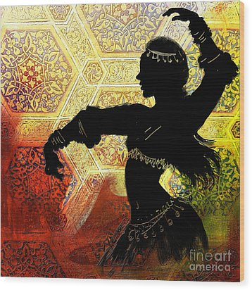 Abstract Belly Dancer 3 Wood Print