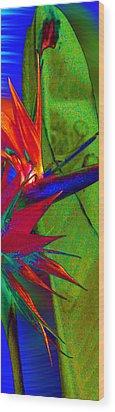 Abstract Bird Wood Print by Ron Regalado