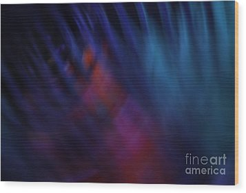 Abstract Blue Red Green Diagonal Blur Wood Print by Marvin Spates