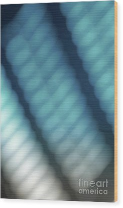 Abstract Blue Reflections Wood Print by Amy Cicconi