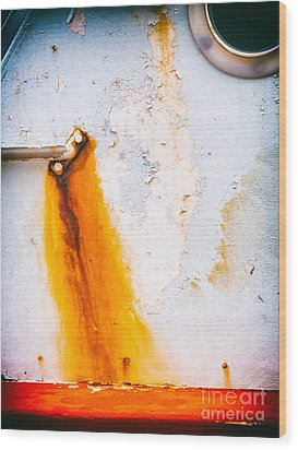 Wood Print featuring the photograph Abstract Boat Detail by Silvia Ganora