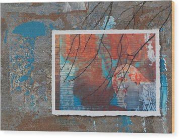 Abstract Branch Collage Wood Print by Anita Burgermeister