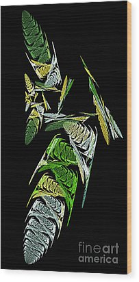 Abstract Bugs Vertical Wood Print by Andee Design