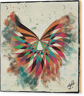 Abstract Butterfly Wood Print by April Gann