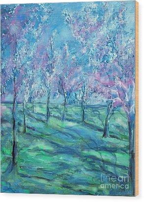 Abstract Cherry Trees Wood Print by Eric  Schiabor