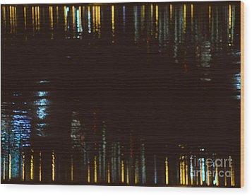 Abstract City Lights Wood Print by Tamara Becker