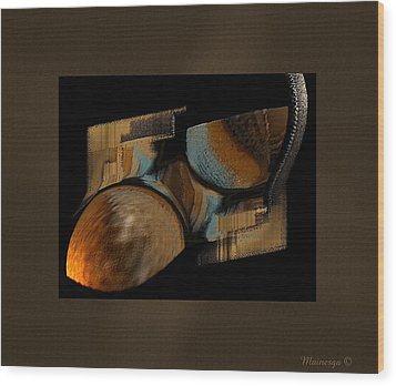 Abstract Collage Wood Print by Ines Garay-Colomba