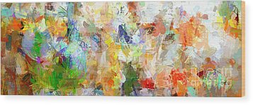 Wood Print featuring the digital art Abstract Collage Panorama by Ginette Callaway