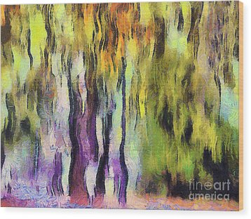 Abstract Colors Wood Print by Odon Czintos